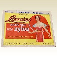 Two Vintage Lorraine DU Pont Nylon Hair Nets