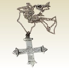 The Order Of The Daughters Of The King Sterling Silver Magnanimiter Cracem Sustine Cross Pendant Necklace