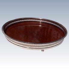 Vintage Silverplate Gallery Rim Serving Tray