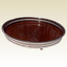 Vintage Silverplate Gallery Rim Serving Tray