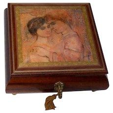 Vintage Edna Hibel Music Box