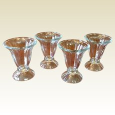 Vintage Set Of Four Ice Cream Sundae Glasses