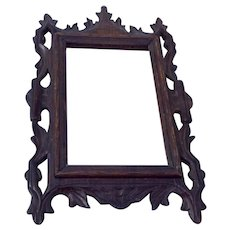 Vintage Hand Carved Folk Art Picture Frame