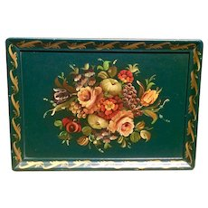 Hand Painted Wooden Tray Large