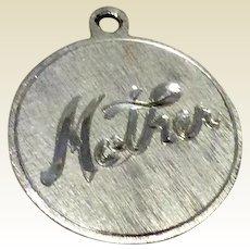 Vintage Sterling Silver Mother Charm