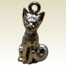 Vintage Sterling Silver Kitten/Cat Charm