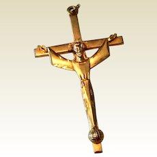 VIntage 12K Gold Filled Large Cross Body Of Christ