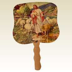 Vintage Religious Catholic Advertising Hand Fan