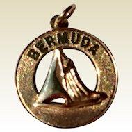 Vintage Gold Tone Bermuda Charm