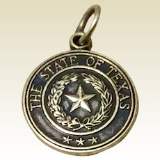 Vintage Sterling Silver State Of Texas Charm