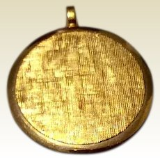 Vintage Van Dell 12K Gold Filled Pendant