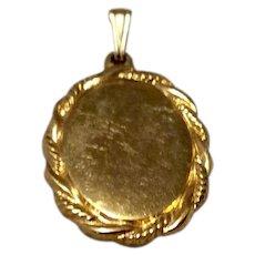Vintage 12K Gold Filled Oval Pendant