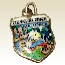 Vintage 800 Silver & Enamel Charm - Souvenir Of Mallorca