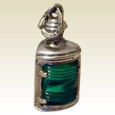 Vintage Sterling Silver Lantern Charm