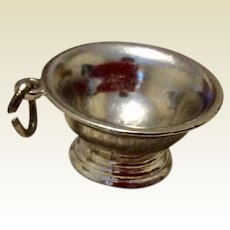 Vintage Sterling Silver Large Bowl Charm