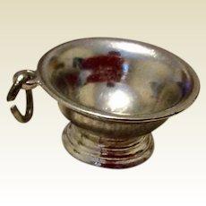 Vintage Sterling Silver Large Bowl Charm