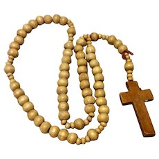 Vintage Wooden Bead Rosary