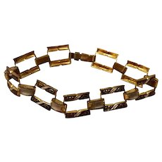 Vintage Spanish Damascene Flexible Link Bracelet