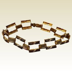 Vintage Spanish Damascene Flexible Link Bracelet