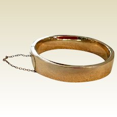 Classic Vintage 12K Gold Filled Hinged Bangle Bracelet