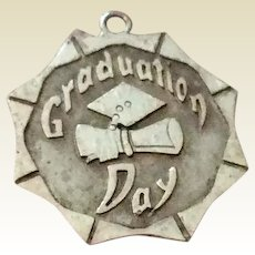 Vintage Sterling Silver Graduation Day Charm