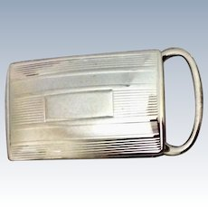Classic Tiffany & Co. Sterling Silver Belt Buckle