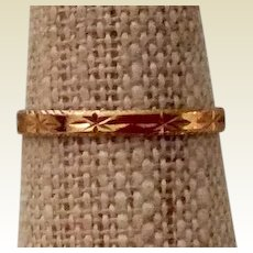 Victorian 14K Gold Weddings Band