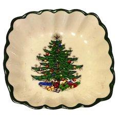 Vintage Cuthbertson Original Christmas Tree Scalloped Dish