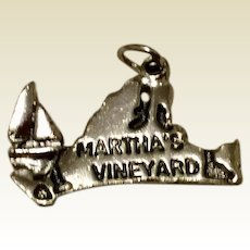 Vintage Sterling Silver Martha's Vineyard Charm