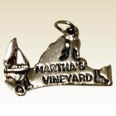 Vintage Sterling Silver Martha's Vineyard Charm