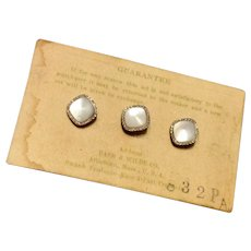 Vintage Swank Gold Filled Collar Studs - Set Of Three On Original Card