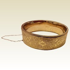 Vintage Winard 12 K Gold Filled Bangle Bracelet