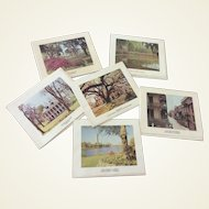 Vintage Set Of 10 Scenic Louisiana Note Cards