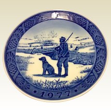 Vintage 1977 Royal Copenhagen Christmas Plate Immervad Bridge