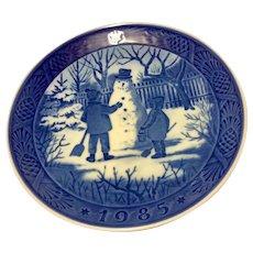 Vintage 1985 Royal Copenhagen Christmas Plate The Snowman