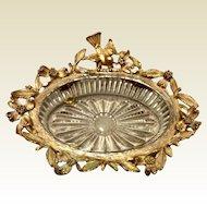 Vintage Stylebuilt Ornate Gold Gilt Soap Dish