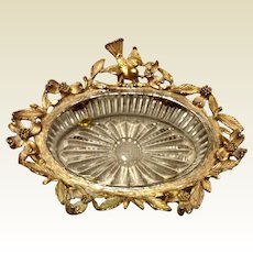 Vintage Stylebuilt Ornate Gold Gilt Soap Dish
