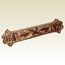 Victorian Gold Filled Bar Pin Brooch