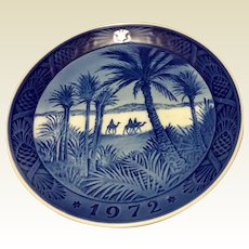 Vintage 1972Royal Copenhagen Christmas Plate In The Desert