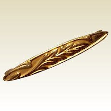 Victorian Gold Filled Bar Pin