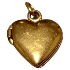 Tiny Vintage 12K Gold Filled Baby Heart Locket