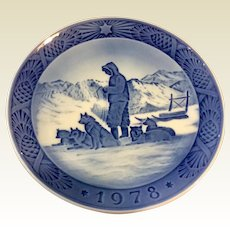 Vintage Royal Copenhagen 1978 Christmas Plate Greenland Scenery