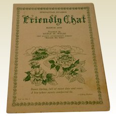 Friendly Chat March 1950