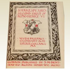 1901 Shakespeare's Second Part Of King Henry VI
