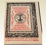 1912 Shakespeare's The Comedy Of Errors