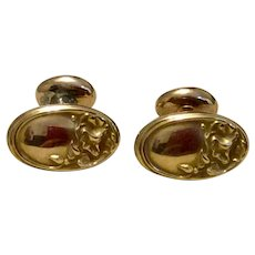 Antique Gold Filled Repousse Floral Cufflinks