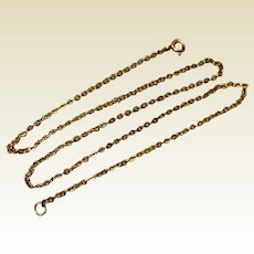 "Vintage 14K Gold Filled 18"" Cable Chain"