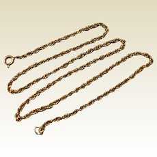 "Vintage Gold Filled 18"" Chain"