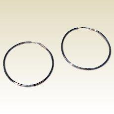 Vintage Large Classic Hoop Earrings