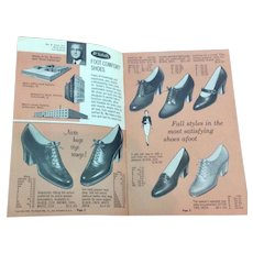 Vintage 1930's Dr. School's Foot Comfort & Copeg Shoes Catalog Folder